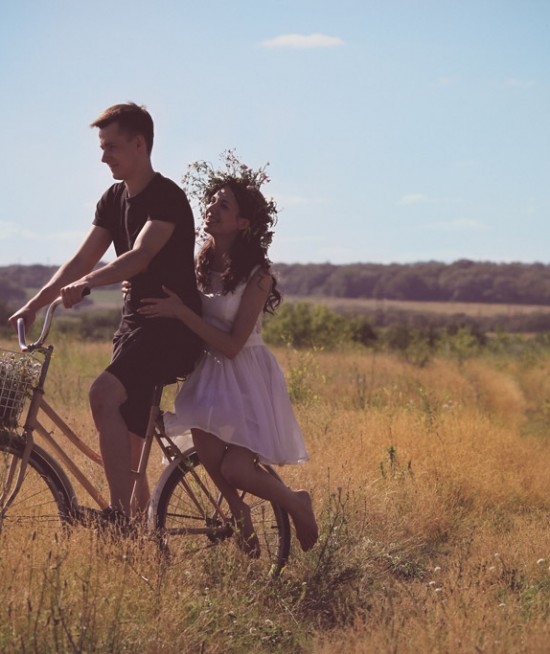 Couple Riding Bike
